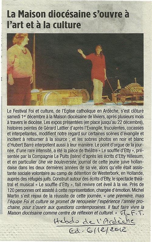 Article: Ardèche Décembre 2012